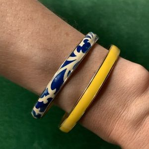 J Crew enamel bangle set